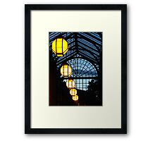 The Lights Of My Home Town Framed Print