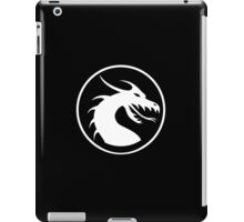 DRAGON, HEAD, CIRCLE, SYMBOL, LOGO, WHITE iPad Case/Skin