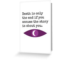 Welcome To Night Vale Death Design Greeting Card