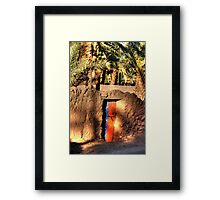 Old Door to walled garden at Tazzarine oasis Framed Print