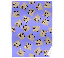 silly sheep on blue background Poster