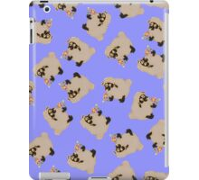 silly sheep on blue background iPad Case/Skin