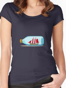 Ship in a bottle Women's Fitted Scoop T-Shirt
