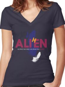 AliHen  - In space... ...cluck Women's Fitted V-Neck T-Shirt
