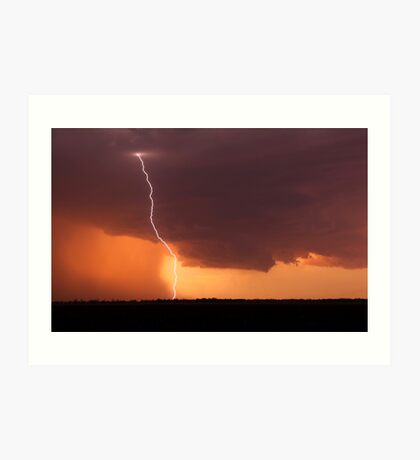 Dalby Sunset Lightning Art Print