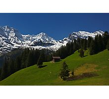 Hiking in the Swiss Alps Photographic Print