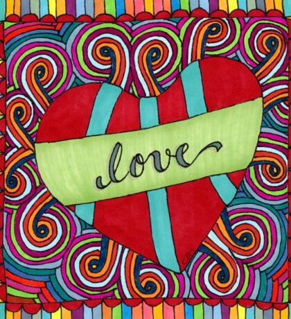 Zentangle Love Sticker