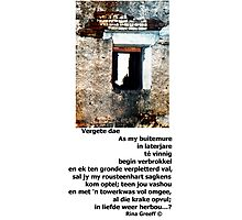 Vergete dae Photographic Print