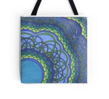 Blue Oceans of Zentangle Tote Bag