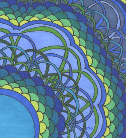 Blue Oceans of Zentangle Sticker