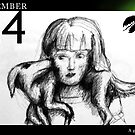 November 24 - A good scarf by 365 Notepads -  School of Faces