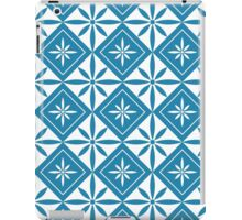 Blue 1950s Inspired Diamonds iPad Case/Skin