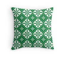 Green 1950s Inspired Diamonds Throw Pillow