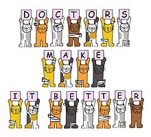 Doctors make it better, cats in bandages. by KateTaylor