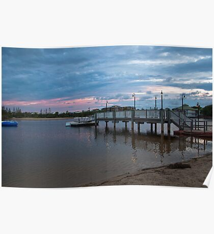 Lagoon & Pier - Twin Waters Poster