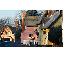 ~ Medieval cottages of Chelsworth Photographic Print