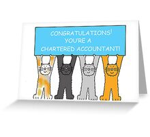 Congratulations you're a chartered accountant. Greeting Card