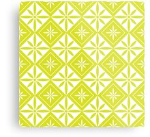 Chartreuse 1950s Inspired Diamonds Metal Print
