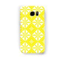 Yellow 1950s Inspired Diamonds Samsung Galaxy Case/Skin