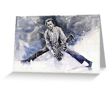 Rock & Roll Music Chuk Berry Greeting Card