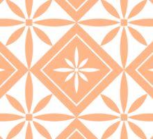 Peach 1950s Inspired Diamonds Sticker