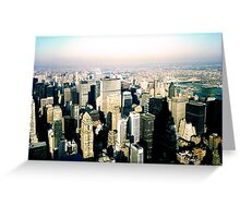 The Grand Canyon Of Concrete And Steel Greeting Card