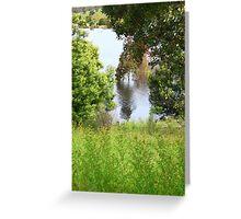 Drowning Trees - Googong #4 - Nov 2010 Greeting Card