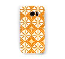 Orange 1950s Inspired Diamonds Samsung Galaxy Case/Skin