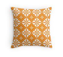 Orange 1950s Inspired Diamonds Throw Pillow