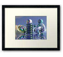 Glass sculptures Framed Print