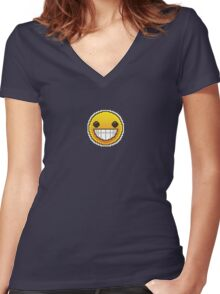 CSGO Pixel Series | Smiley Women's Fitted V-Neck T-Shirt