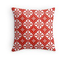 Red 1950s Inspired Diamonds Throw Pillow