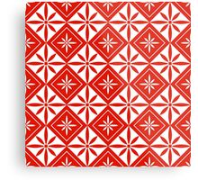 Red 1950s Inspired Diamonds Metal Print