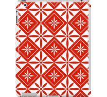 Red 1950s Inspired Diamonds iPad Case/Skin