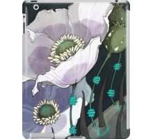 White Opium Poppies  iPad Case/Skin