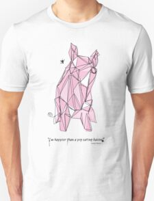 """""""I'm happier than a pig eating bacon!"""" - Lemony Snicket - T-Shirt"""