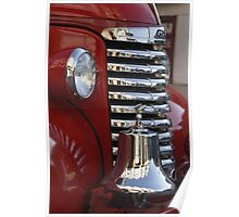 Fire Truck Front Grille Poster