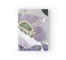 White Opium Poppies  Hardcover Journal