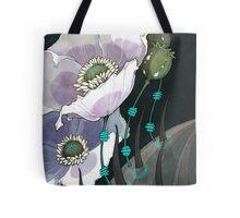 White Opium Poppies  Tote Bag