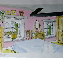 Cottage Interior by Lesley Rowe