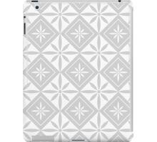 Light Grey 1950s Inspired Diamonds iPad Case/Skin