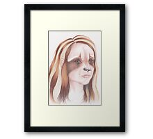 Raccoon Girl Framed Print