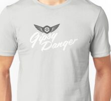 Pacific Rim - Gipsy Danger Print B/W Unisex T-Shirt