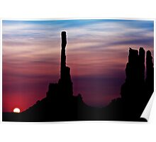 Sun dawns at Totem Pole Poster