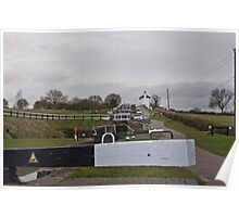 Foxton Locks, Leicestershire Poster