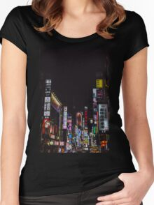 Kabukicho's Dreams Women's Fitted Scoop T-Shirt