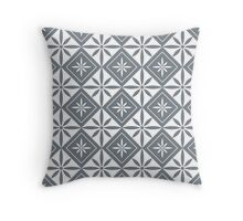 Cool Grey 1950s Inspired Diamonds Throw Pillow