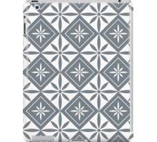 Cool Grey 1950s Inspired Diamonds iPad Case/Skin