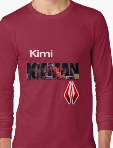 Kimi Raikkonen Iceman Shirt Long Sleeve T-Shirt