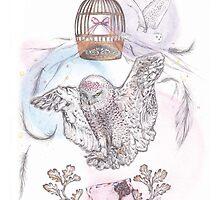 Owl Mail - Art by Celeste Ramos
